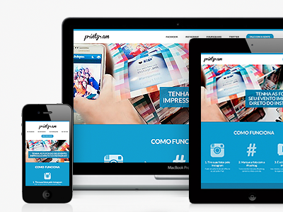 Responsive, responsive, responsive! web ui iphone responsive ipad html css media query landing page instagram