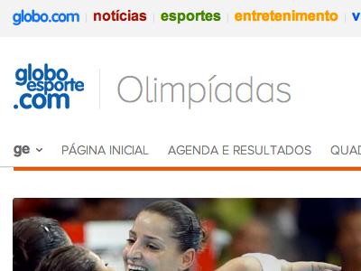 GloboEsporte.com Olympics globoesporte olympics website ui