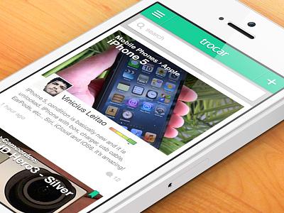Trocar app iphone helvetica minimal ios swap trocar clear list thumbnail search simple ui