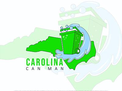 carolina can man logo typography minimal branding design illustration flat design graphic design branding logo