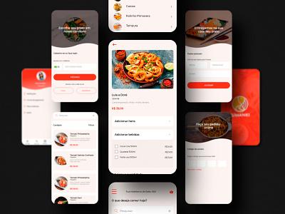 Ui Kit App Delivery food app app ui ui  ux uidesign japanese food app app delivery japanese japonese food