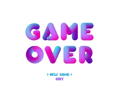 Game over—vector 3d bubble letters. Light background vector illustrator fx blend background light letters bubble 3d over game