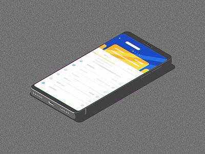 Isometric App Phone design ai minimal modern vector flat illustration