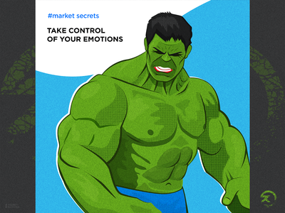 Control poopart emotions angry hulk facebook tips market cartoon simple modern character vector illustration