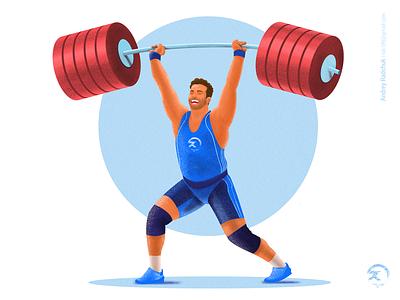 Strong photoshop adobe illustrator cc design ai simple modern character vector flat illustration