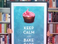 Keep calm bake cake large