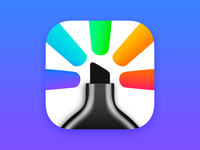 Highlights for iOS & Mac app icon icon design icon app
