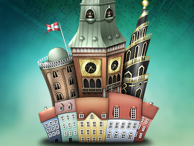 Copenhagen Cocoa Developer Conference webdesign illustration copenhagen