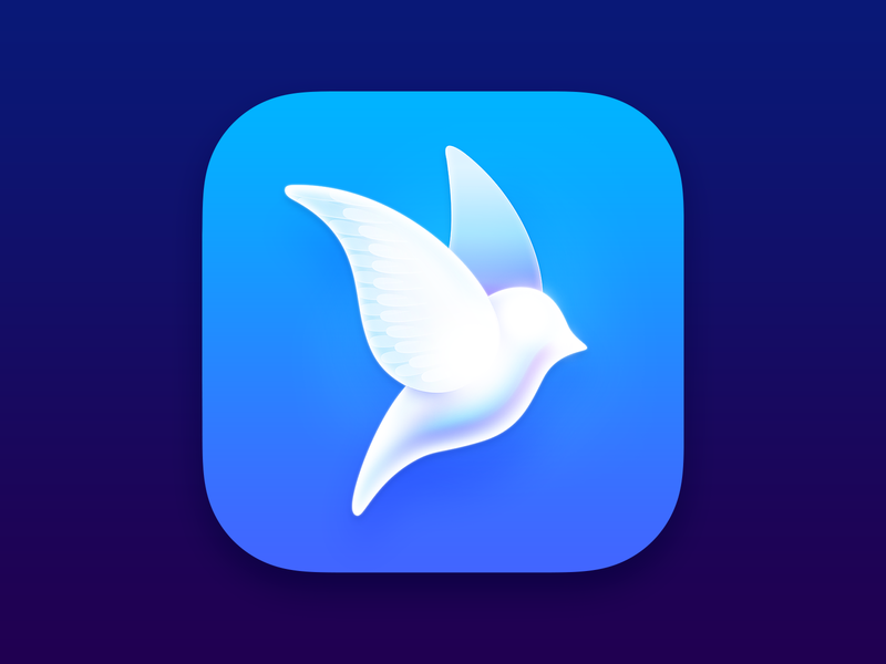 Aviary blue logo icon bird twitter app icon design app icon