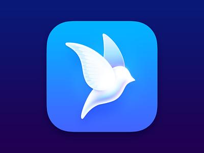 Aviary blue logo icon bird twitter app icon design app icon