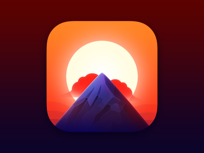 Alpenglow app icon design app icons mountain light forecast sun alpenglow app icon app icon