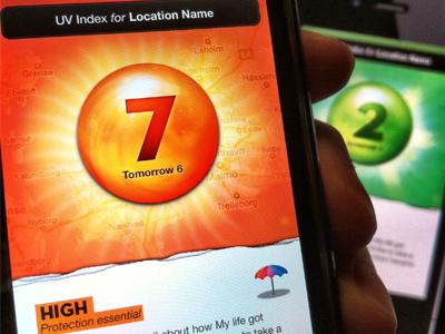 UV App app interface ui