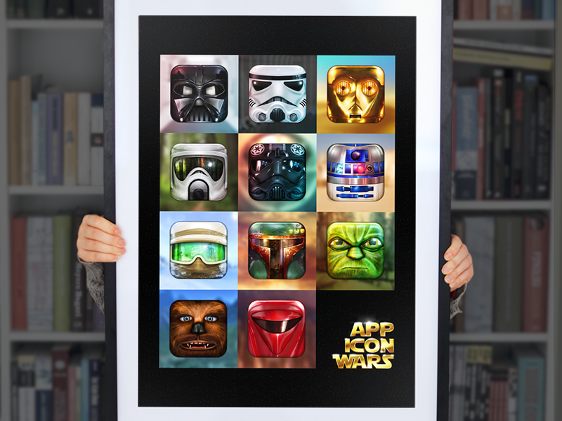 App Icon Wars Collected Works app icon wars poster print