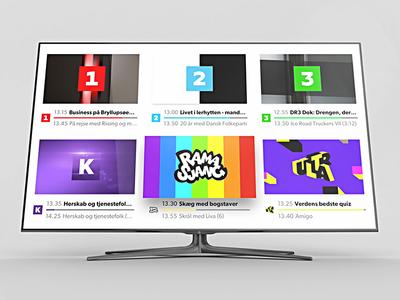 DR TV for Apple TV dr apple tv design ui tvos