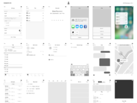 ios wireframe template by michael flarup dribbble dribbble. Black Bedroom Furniture Sets. Home Design Ideas