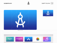 Apple TV App Icon Template by Michael Flarup on Dribbble