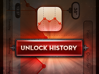 Unlock history dribbble