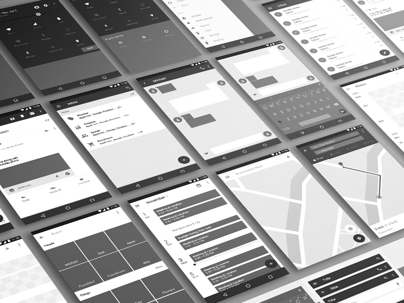 Android Wireframe Template prototype mockup wireframe tool photoshop android template resource psd