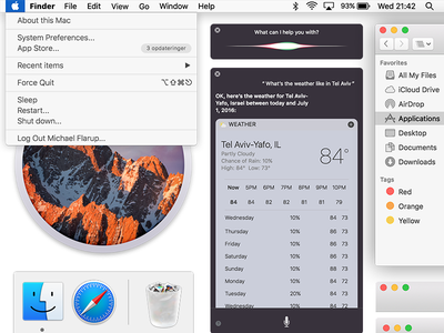 macOS Sierra UI Kit photoshop ui kit tool sierra macos psd