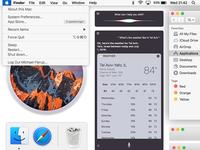 macOS Sierra UI Kit