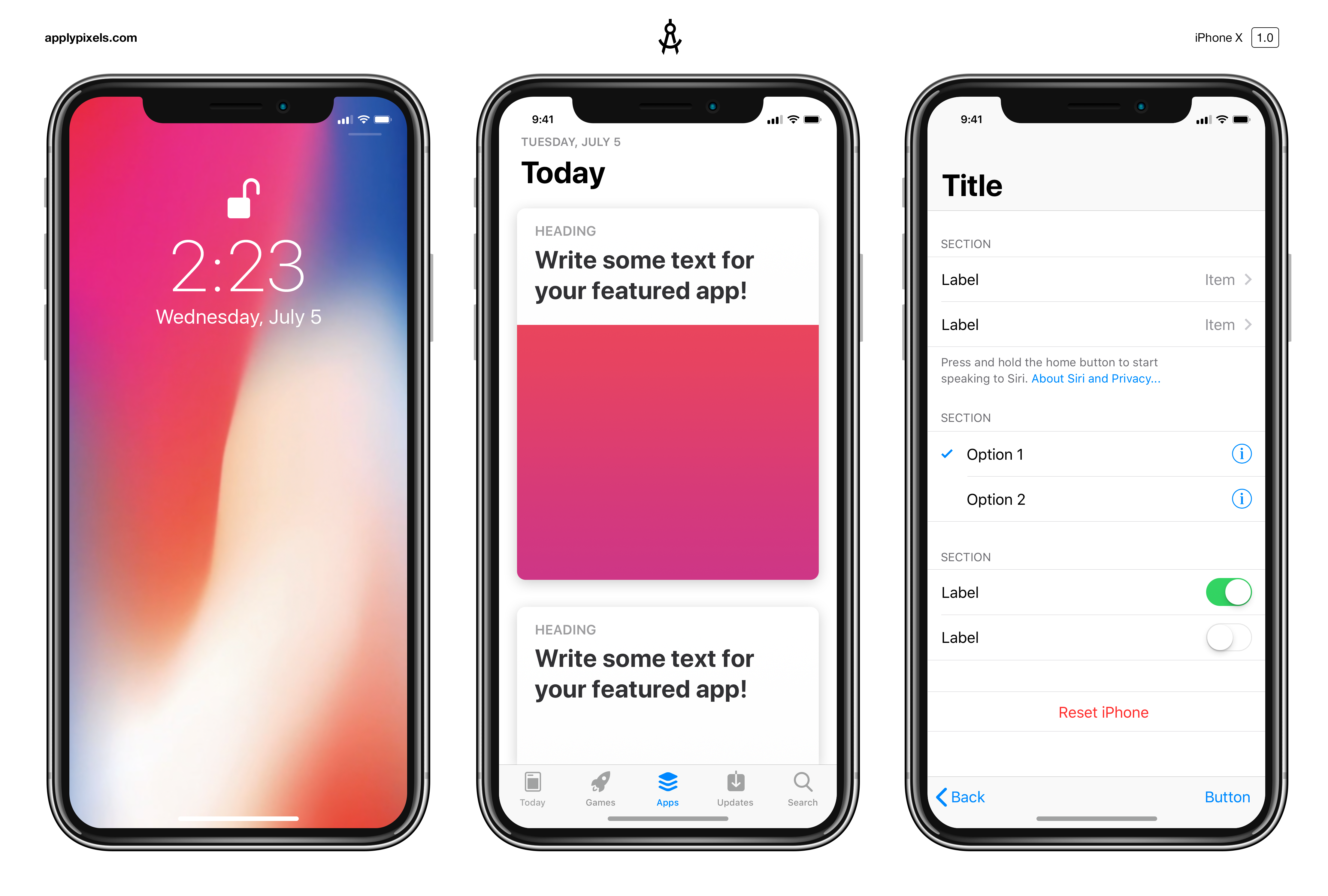 Iphone x free mockups for Designing an app for iphone