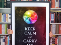 Keep calm poster large