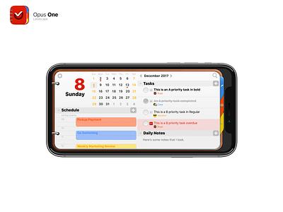 Opus One UI calendar note paper metal leather design ui skeu skeumorphic