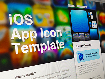 New App Icon Template resource psd