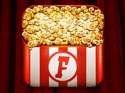 Popcorn app icon wribbble