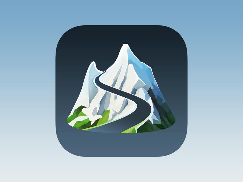 Slopes icon app icon