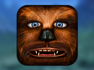 Chewbacca wars icon app