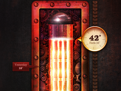 Steampunk Thermo thermo ui thermometer