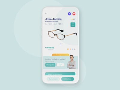 Skewbb Lenskart redesign minimaldesign topdesign topmobileapp descriptionpage description listing page eyewear design designthinking interaction interactiondesign ui lenskart mobileapp app ux uxdesign uidesign uiuxdesign