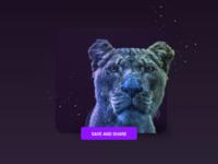 """Animal Shot """"Lion"""""""
