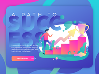 Path To Success | Vector Illustration