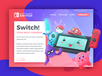 Nintendo Switch | Landing Page