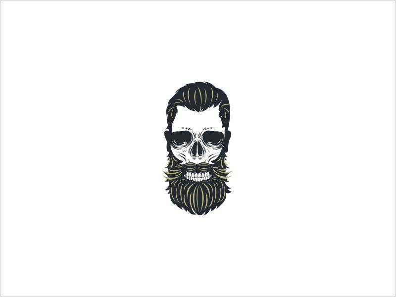 Bearded skull icon  dribbble