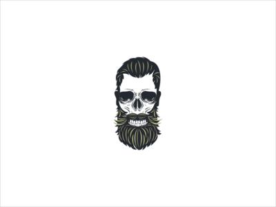 Bearded Skull Icon.