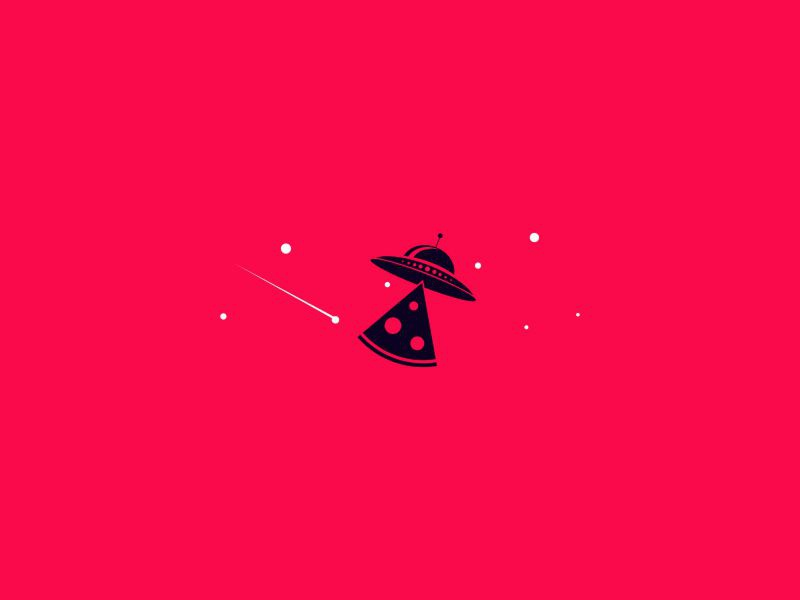 Pizza space icon dribbble