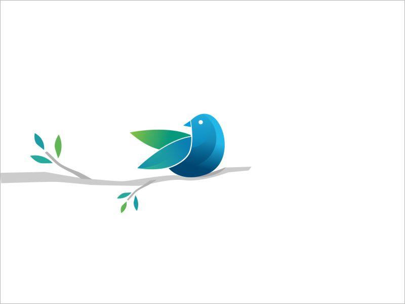 Bird Icon abstract lines design bird illustration mark icon logotype