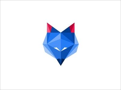 Polygonal Fox  Icon .