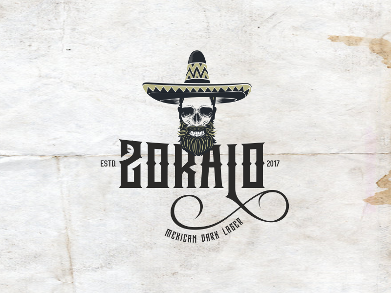 Zocalo mexican beer logo  dribble