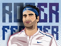 Roger Federer Digital Illustration.