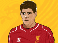 Steven Gerrard Digital Art.