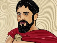 King Leonidas Digital Art.