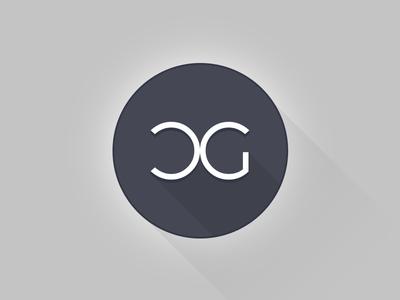 Creative Guru logo flat icon long-shadow logo shadow