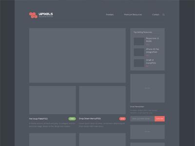 Uipixels.com Renewed!!! uipixels website freepsd psds clean theme simplicity white theme dark ui interface flat