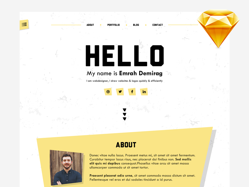 Personal Portfolio Template Sketch Resource By Emrah