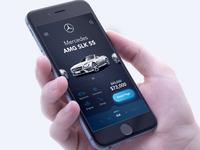 Mercedes Amg SLK 55 app design