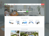Residential Projects Homepage Design